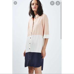 TOPSHOP color block dress button down striped 4
